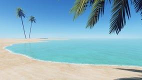 Palmen auf dem Strand #2 vektor abbildung
