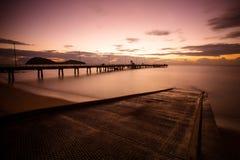 Palmen-Bucht-Sonnenaufgang Lizenzfreie Stockfotos