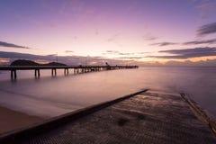 Palmen-Bucht-Sonnenaufgang Lizenzfreies Stockbild