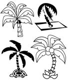 Palmen eingestellt Stockbilder