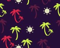 Palmen en zonachtergrond Royalty-vrije Stock Afbeelding
