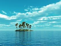 Palmen-Insel Stockfotografie