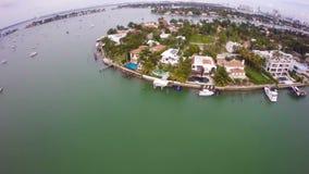 Palmen-Insel-Miami Beach stock video footage