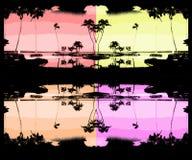Palmen-Kriege Stockfoto