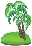 Palmen-Land getrennt vektor abbildung