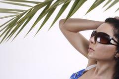 Palmen-Mädchen 1 Stockfoto