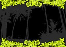 Palmen mit Blumen. Vektor stock abbildung