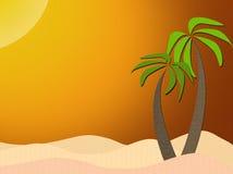Palmen onder de zon Stock Afbeelding