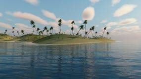 Palmen op een eiland Stock Fotografie