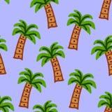 Palmen op een lichtblauwe kleur stock illustratie