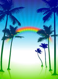 Palmen op groene Internet achtergrond Royalty-vrije Stock Afbeelding