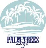 Palmen op het Strandembleem Silhouet - vector Royalty-vrije Stock Afbeelding