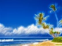 Palmen op strand Stock Fotografie