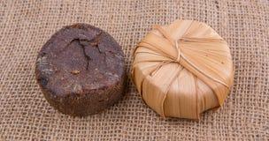 Palmen-Saft Sugar On Gunny Sack I Lizenzfreies Stockfoto