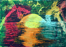 Palmen und das Meer Stockfotografie
