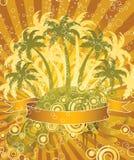 Palmen und Luftblasen. Lizenzfreie Stockfotografie