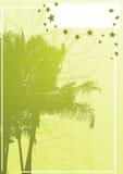 Palmenfahnenvektor Stockfoto