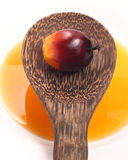 Palmenfrucht und -Speiseöl Stockbild