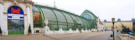 Palmenhaus, former greenhouse palm of Burggarten royalty free stock photography