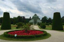 Palmenhaus La casa di palma nel parco di Schönbrunn, Vienna fotografia stock