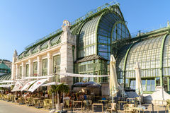 Palmenhaus Or The Palm House In Vienna Stock Image