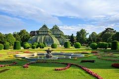 The Palmenhaus Schoenbrunn - a large greenhouse in the park Schoenbrunn in Vienna, Austria Stock Photo