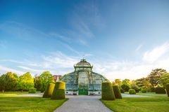 Palmenhaus in Schonbrunn gardens Royalty Free Stock Images