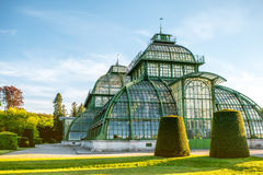 Palmenhaus in Schonbrunn gardens Royalty Free Stock Photography