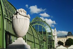 Palmenhaus Schonbrunn greenhouse in Vienna Royalty Free Stock Images