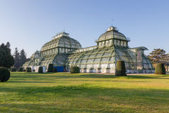 The Palmenhaus in Schonbrunn Palace Park, Vienna, Austria Royalty Free Stock Images