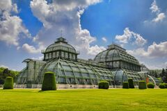 Palmenhaus Schonbrunn, Vienna, Austria Stock Photo