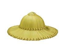 Palmenhut für die Landwirte lokalisiert auf Weiß Lizenzfreie Stockfotografie