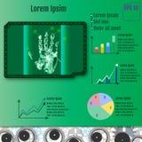 Palmenscanner infographic Vektor Stockfoto