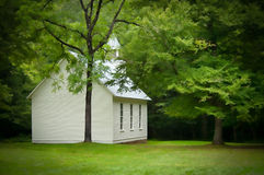 Palmer Chapel. The Palmer Chapel located in Cataloochee Valley in the Great Smokey Mountains National Park, was built in 1898. It is surrounded by wild Elk Stock Photography