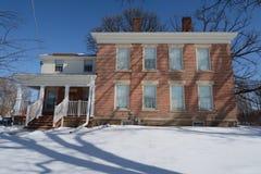 Palmer dom w śniegu Obrazy Royalty Free