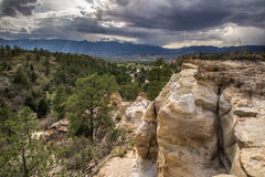 Palmer Park-Ansicht von Spiessen Höchst-Colorado Springs Stockfotos