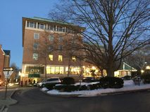 Palmer Square in Princeton van de binnenstad Royalty-vrije Stock Afbeelding