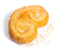 Palmera (Palmier) sweet puff pastry Stock Images