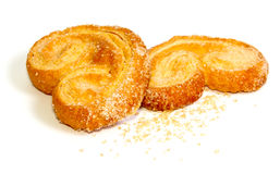 Palmera (Palmier) sweet puff pastry Royalty Free Stock Photo