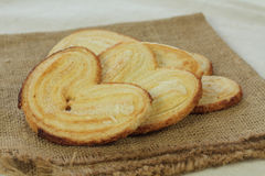 Palmera Palmier sweet puff pastry Royalty Free Stock Photos