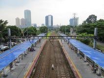Palmerah station, Jakarta Arkivfoto