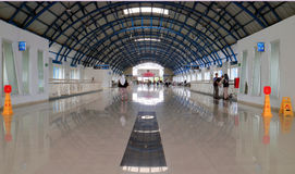Palmerah Station. JAKARTA, INDONESIA - April 7, 2017: The hall of Palmerah Station. Palmerah railway station began operating in 1899 to 1990 Royalty Free Stock Photography