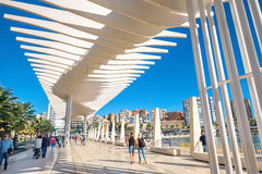 Palmeral de las sorpresa promenade in seaport. Malaga, Andalusia Royalty Free Stock Photography