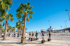 Palmeral de las sorpresa promenade in seaport. Malaga, Andalusia Stock Photo
