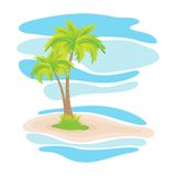 Palmeras tropicales en la isla Imagenes de archivo