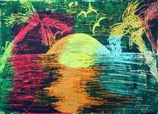 Palmeras y el mar Fotografía de archivo
