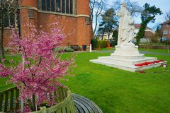 Palmers Green Church Ground. A not so known church in palmers green area of london, spring is upon us Stock Photography