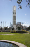 Palmerston North. Central clock tower in the square, Palmerston North, New Zealand Stock Photo