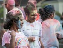 Palmerston North, Manawatu-Wanganui, New Zealand, 3/03/2017: Pac. Celebrating the Indian festival of Holi Royalty Free Stock Photo