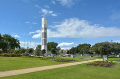 Palmerston North - New Zealand - The Square. PALMERSTON NORTH, NZL - DEC 01 2014:Palmerston North Square.It contains the city clock tower, war memorial and a Royalty Free Stock Photography